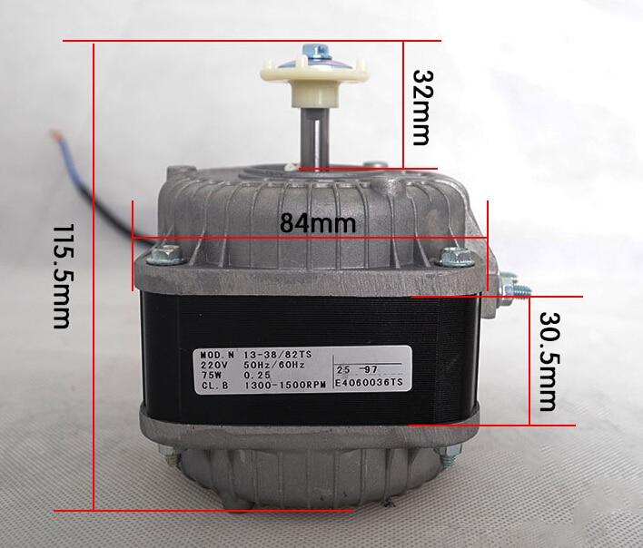 220V 75W refrigeration parts fan motor asynchronous motor freezer parts cooling fan motor refrigetor motor freezer parts motor is3215eab
