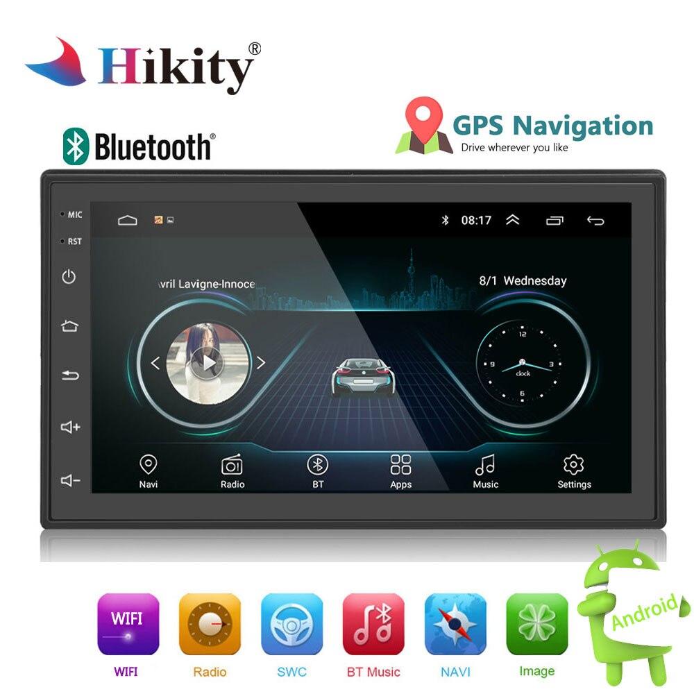 Hikity 2din Autoradio Android lecteur multimédia Autoradio 2 Din 7 ''écran tactile GPS Bluetooth FM WIFI auto lecteur audio stéréo