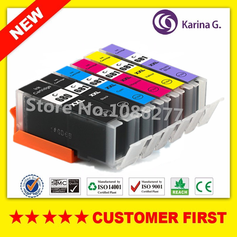6 color for PGI680 CLI681 PGI 680 CLI 681 Compatible Ink Cartridges For Canon PIXMA TS8160