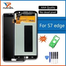 Качество AAA оригинальная Super AMOLED экран для Samsung Galaxy S7 край ЖК-дисплей G935F G935FD сборки Замена + подарок