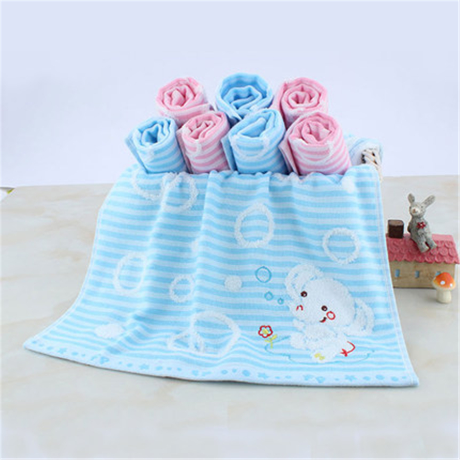 Soft Square Cotton Baby Towel Set Gauze Washcloth Striped Absorbent ...