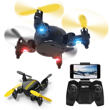 Quadcopter hr drone 미니 접이식 원격 제어 항공기 hd 공중 카메라 소형 항공기 (교체 용 배터리 포함)