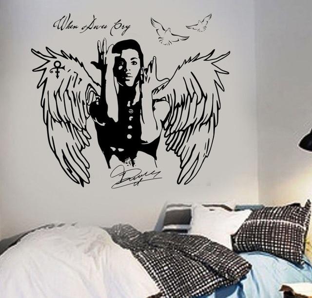 Muur Art Sticker Prins Decal Wanneer Duiven Cry celebrity pop zanger ...