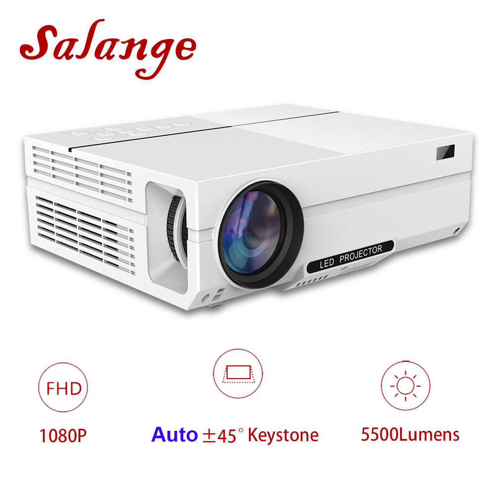 Salange T26K Proyector Full HD 5500 Lumens LED Projector Home Theater HDMI VGA USB 1080P Movie