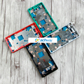 For SONY Xperia Z3 Compact Middle Frame Bezel Plate Housing With Side Buttons Dust Plug Cover Z3 mini M55W Replacement Parts