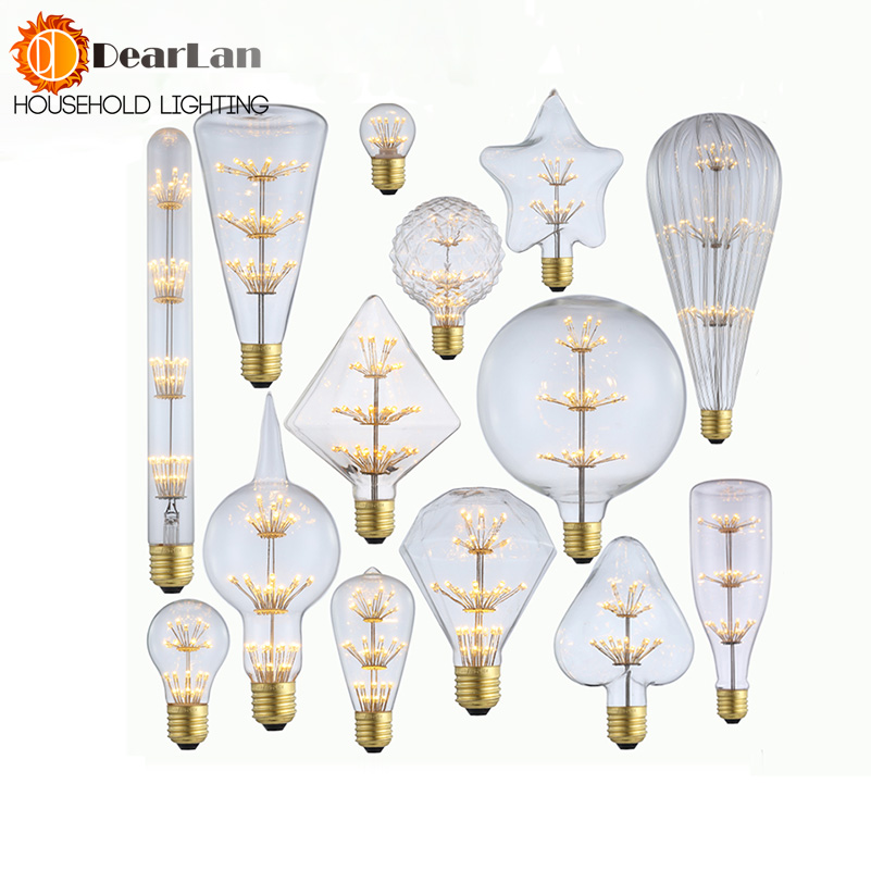 220V-240V E27 Vintage Retro Edison LED Light Bulb 4W ST64/A19/G80 Indoor LED lamp Bulb Night Light Bulbs Christmas Gifts