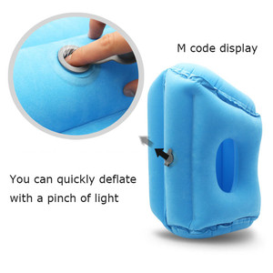 Image 5 - Upgraded Inflatable Air Cushion Travel Pillow Headrest Chin Support Cushions for Airplane Plane Car Office Rest Neck Nap Pillows