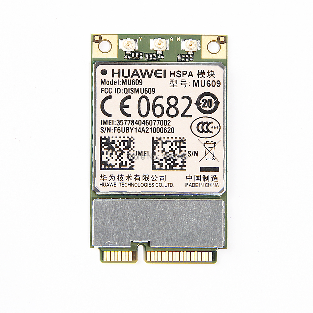 Unlocked HUAWEI MU609 WCDMA Wireless 3G WWAN Module HSPA+/UMTS/GSM/GPRS quad-band 850/900/1900/2100 MHz Mini PCIe card gsm 3g repeater dual band gsm 900 mhz 2100 mhz w cdma umts repetidor 3g antenna signal amplifier 2g 3g cell phone booster sets