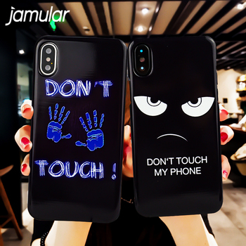 JAMULA Do Not dont Touch My Phone Mirror Phone Case For iPhone 6 6s 7 8 Plus X 10 Soft TPU Slim Back Cover Funny Letter Capinha louis vuitton phone cases iphone 7