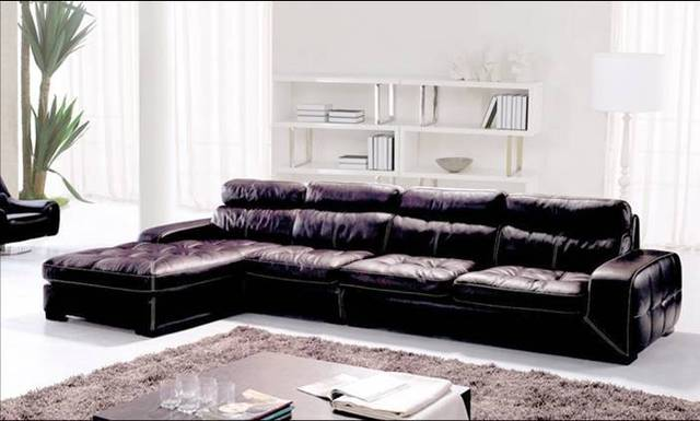 Free Shipping Living Room Sectional Leather Sofa, Classic L Shaped European  Design Combinaion Sofa With
