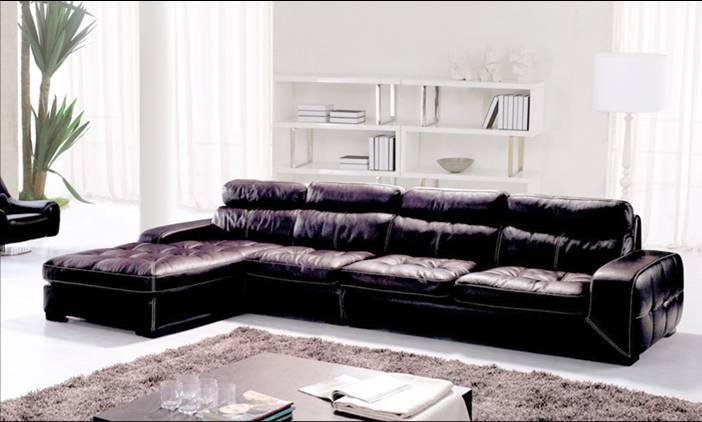 Free Shipping Living Room Sectional Leather Sofa Classic L Shaped European Design Combinaion With
