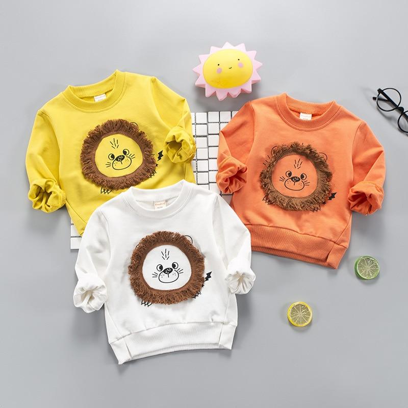 Brand Kids 2-5Y Baby Boys Girls T-Shirt New Spring Long Sleeve Tees Childrens Tops Clothing Cotton Cartoon Pattern Tshirt