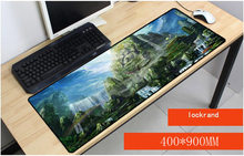 Yuzuoan Gratis Pengiriman Buddha patung Air Pegunungan Pemandangan Optik Gaming Notebook Komputer Besar Mouse Mat Anti-slip Mouse Pad(China)