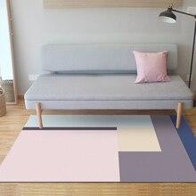 Розовый синий серый геометрический большой коврик и ковер скандинавские простые ковры для гостиной спальни прикроватный диван коврики