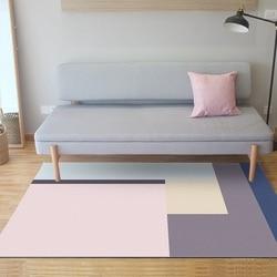 Różowy niebieski szary geometryczne dywaniki i dywaniki prostota w stylu nordyckim dywany do salonu sypialnia nocna Sofa maty podłogowe Tapete w Dywany od Dom i ogród na