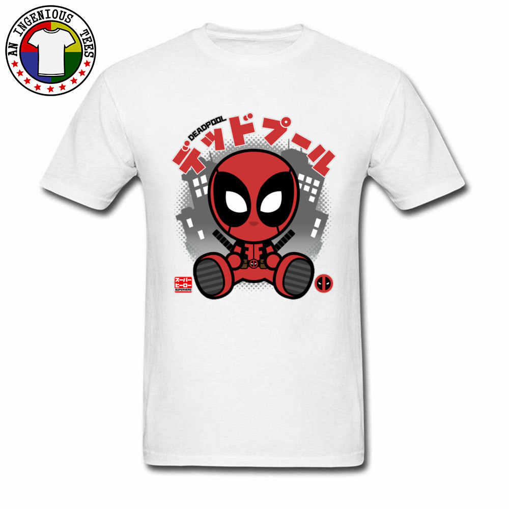 Japanischen Deadpool Chibi Marvel T Shirts DC Comic Anime Super Hero Anime T-shirts Für Junge Dead Pool Shintaro Orange Rot rosa