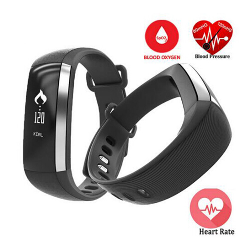 KRIMISSY M2 Smart Band Heart Rate Monitor Blood Pressure Pulse Meter Bracelet Fitness Smartwatch Smartband for iOS Android Phone