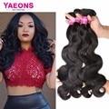 Yaeons 4 pacotes onda do corpo brasileiro produtos para o cabelo brasileiro virgem 7a onda do corpo do cabelo humano cabelo brasileiro cabelo weave bundles