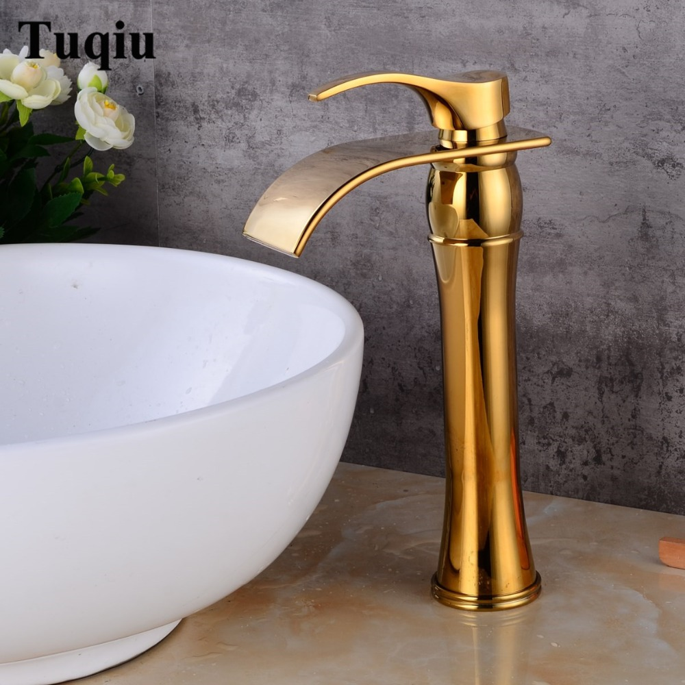 New Arrivals Antique Bronze Bathroom Faucet hot and cold Crane Brass Basin Faucet Waterfall Sink Faucet Single Handle water tap antique finish bathroom basin faucet single handle bathroom sink mixer faucet crane tap antique brass hot and cold water xt953