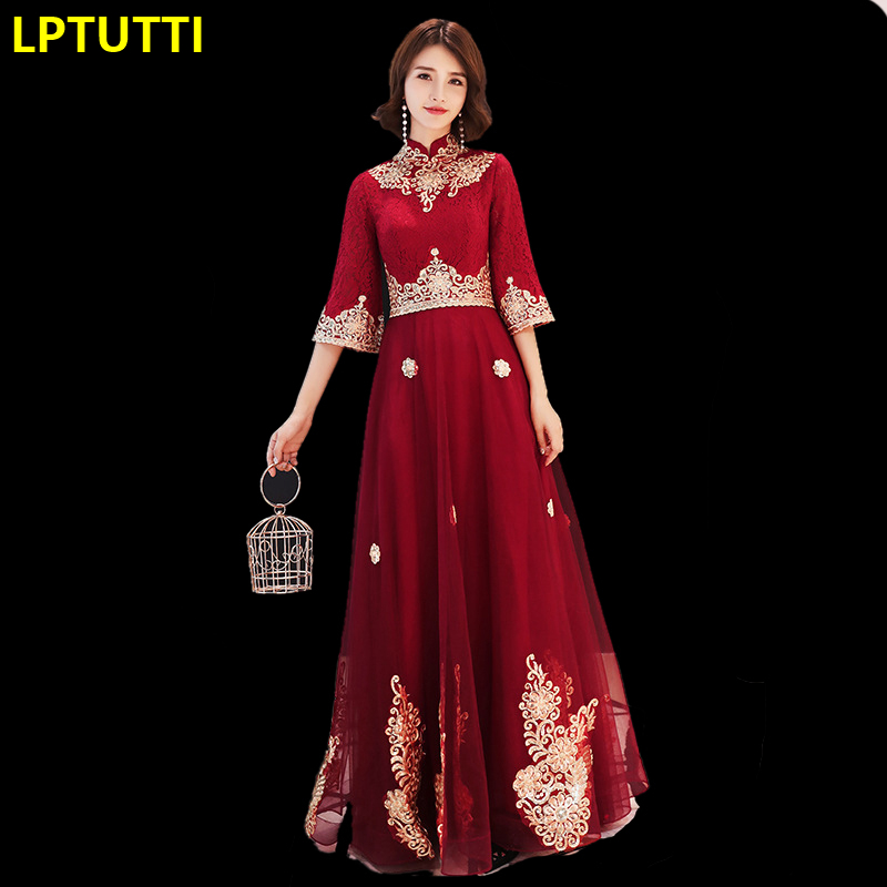 LPTUTTI Embroidery Sequin New For Women Elegant Date Ceremony Party Prom Gown Formal Gala Luxury Long Evening Dresses