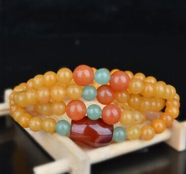 NNT20 Natural gold silk jade, jade bracelet, real jade seed. Mens braceletNNT20 Natural gold silk jade, jade bracelet, real jade seed. Mens bracelet