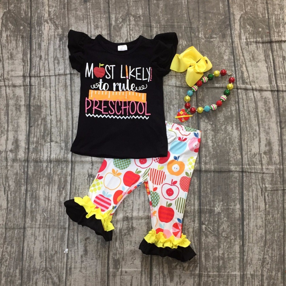 girls back to school outfit clothes most likely to rule pre school clothing kids top with capris school outfits with accessories