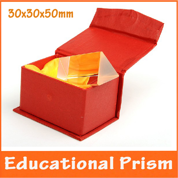 3x3x5cmBirthday Gift Children Student Educational Physics Optical Glass Triangular Prism School Science Experiment Teaching Aids