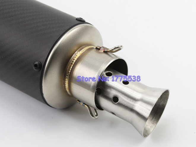 1pcs 51mm universal motorcycle exhaust pipe muffler. Black Bedroom Furniture Sets. Home Design Ideas