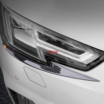 Đèn pha Carbon Fibre Mí Mắt Khung Phù Hợp Cho Audi A4L 2017 2018 Đèn Pha lông mày