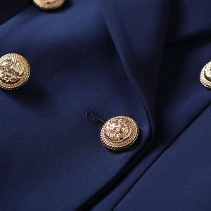 Image 5 - عالية الجودة موضة جديدة 2020 مصمم سترة المرأة أزرار الذهب مزدوجة الصدر السترة ملابس خارجية حجم S XXXL