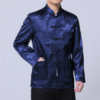 middle aged elderly mens jackets and coats Slim design jacket men Asia size M L XL XXL XXXL