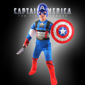 Children Avengers captain america costume halloween child winter soldier cosplay helmet boys blue fancy dress costumes for kids