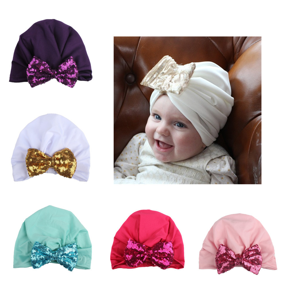 2017 New Hat Knitting Sequin Bowknot Hat Bows Cap Bohemia India turban Hats Beanies Photography Props photo Gorro pastoralism and agriculture pennar basin india