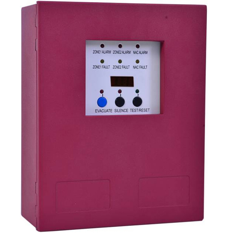 2 Zones Fire Alarm Control Panel with AC power input Fire Alarm Control System Conventional Fire  Control Panel power system power system l carnitine fire 54000 1000