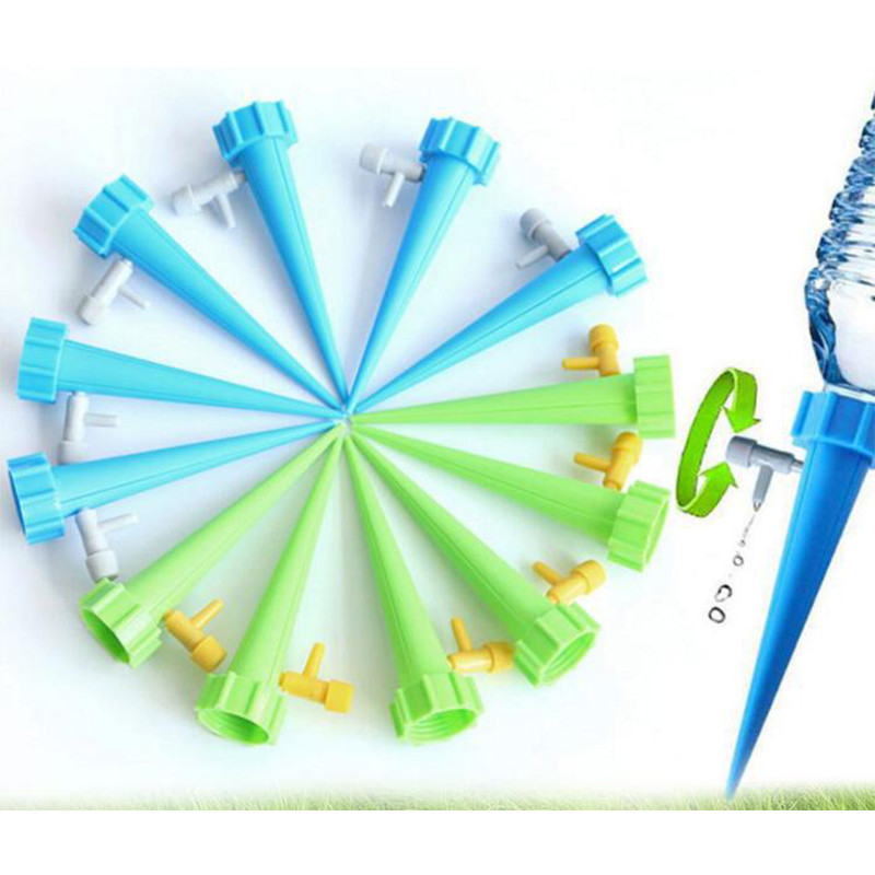 12pcs Auto Drip Irrigation Watering System Automatic Watering Spike For Plants Flower Indoor Household Waterers Bottle U3