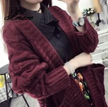 2020 autumn new twist pocket sweater coat female long loose loose knit cardigan 2019 autumn new twist pocket sweater coat female long loose loose knit cardigan