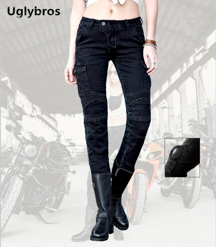 Moterų Uglybros Motorpool Ubs06 džinsai Motociklų kelnės Road - Motociklų priedai ir dalys - Nuotrauka 1
