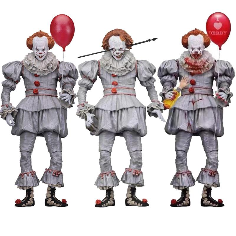 3 Types Original NECA Pennywise Joker Horror Action Figure Toy Doll  Halloween Gift