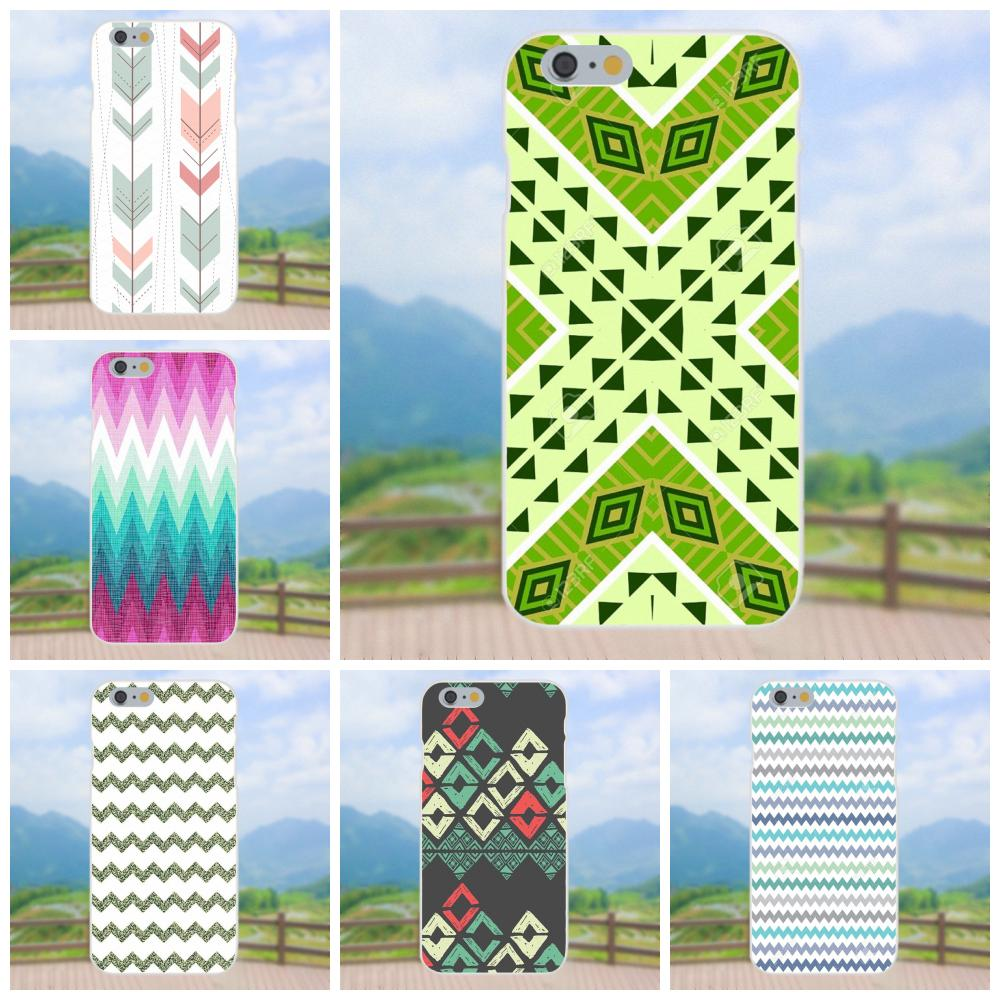 Us 099 Tpu Cover Cell Phone Cases Geometric Tribal Chevron Wallpaper For Apple Iphone 4 4s 5 5c 5s Se 6 6s 7 8 Plus X Xs Max Xr In Half Wrapped