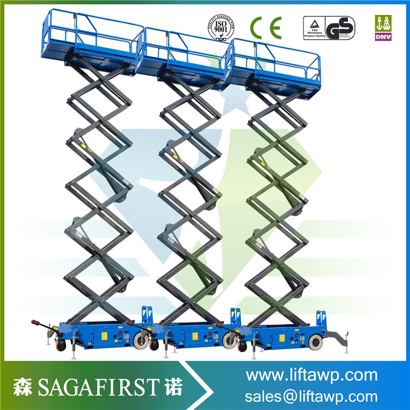 Sagafirst Popular Scissor Lift 500kg To 2Ton 4m To 18m Electric Power
