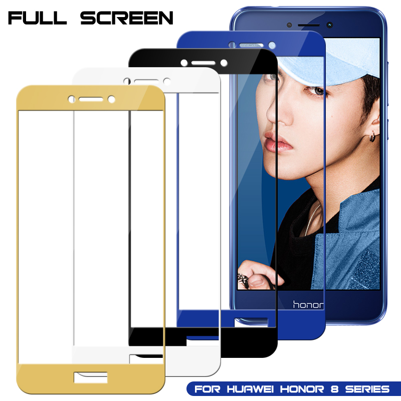 Full Cover Glass Protector On For Huawei Honor 8 9 10 Lite  Light  Screen Proctive Glass For Huawei Honor10 Lite Tempered Film