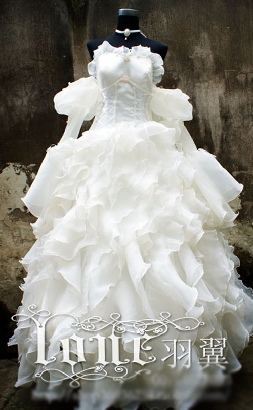 Anime CODE GEASS Euphemia Li Britannia Cosplay Costume Halloween White Luxury Wedding Dress