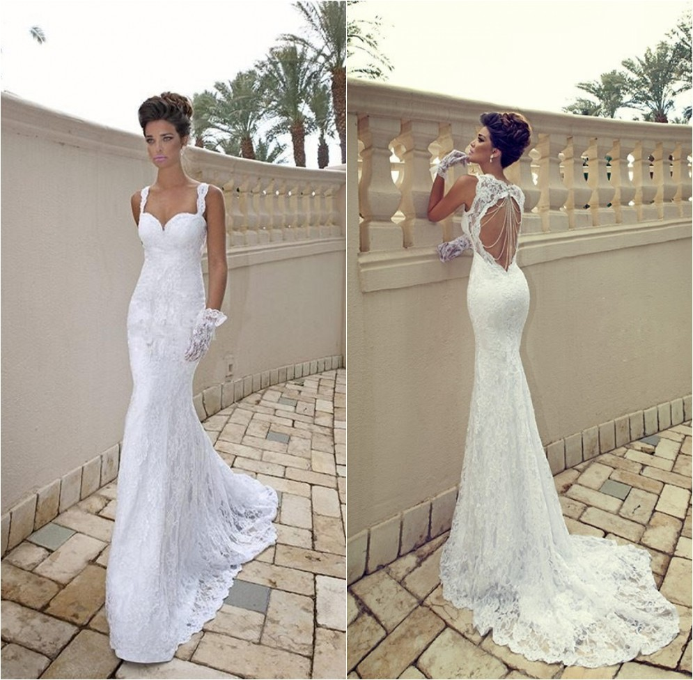 ebb05d81e1 Hot Sale Galia Lahav Vintage Mermaid Sweetheart Backless White Sheer ...