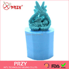 Soap Mold Fondant Cake Decoration Mold Angel Wings Handmade Soap Mold Moulds Aroma Stone Angel Modelling Silicone Sleeping Babystone mouldfondant cake decoratingcake decorating