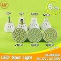 6 pcs 5 W 6 W 8 W MR16 GU10 E27 Lâmpada LED Refletor LED Bombillas Lampada LEVOU Lâmpada GU10 luz do ponto MR16 220 V 110 V 12 V Lampara Ampola