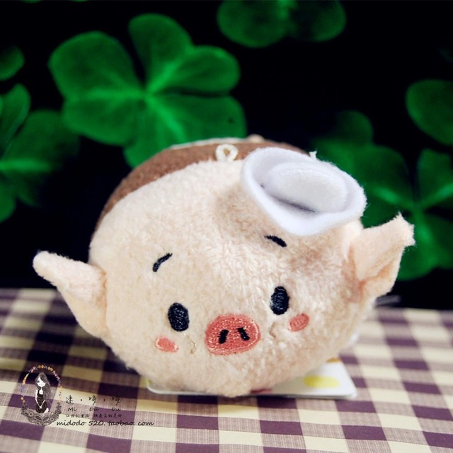 Tsum Three Little Pigs And Timber Wolf Mini Plush Toy Cute Doll For