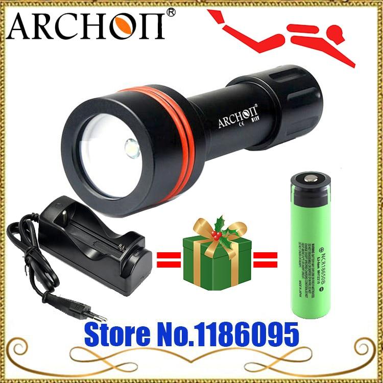 ARCHON D11V Дайвинг подводный светодиодный свет W17V 3-режим 100 м flashight CREE xm-l 860 люмен + 1X18650 2600 мАч батареи