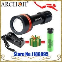 ARCHON D11V podwodne Led światło do nurkowania W17V 3 mode 100 M latarka Cree XM L 860 lumenów + 1x18650 2600 mah baterii w Latarki LED od Lampy i oświetlenie na