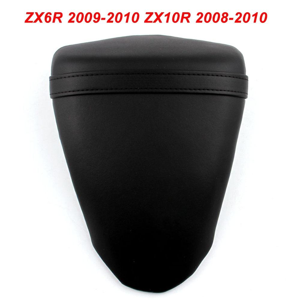 For Kawasaki Ninja 2009-2010 ZX6R ZX636 ZX10R 2008 2009 2010 Motorcycle Rear Passenger Seat Cushion Pillion Leather Pad CoverFor Kawasaki Ninja 2009-2010 ZX6R ZX636 ZX10R 2008 2009 2010 Motorcycle Rear Passenger Seat Cushion Pillion Leather Pad Cover