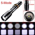 Hot Selling 3000 Lumens CREE XM-L T6 LED Zoomable 18650 Flashlight Camping Torch Lamp outdoor 2 x 18650 batteries